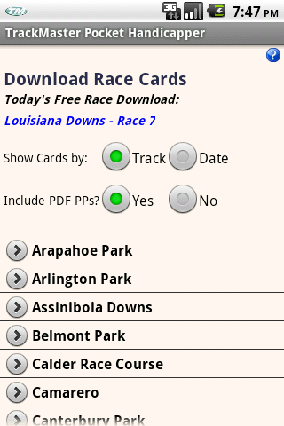 Equibase Trackmaster Pocket Handicapper